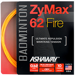 Ashaway Zymax 62 Fire 0.62mm (Ultimate Repulsion) Badminton String  (Free Shipping)