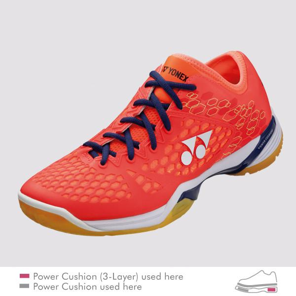 YONEX POWER CUSHION 03 Z (03Z) MEN'S BADMINTON SHOES - [RED]