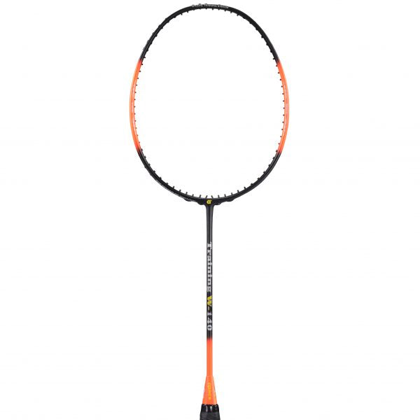 Training Racket W-140 Orange Black 140 grams (Strung) - Apacs Badminton Racket