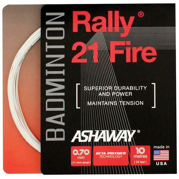 Ashaway Rally 21 Fire 0.70mm (Superior Performance) Badminton String  (Free Shipping)