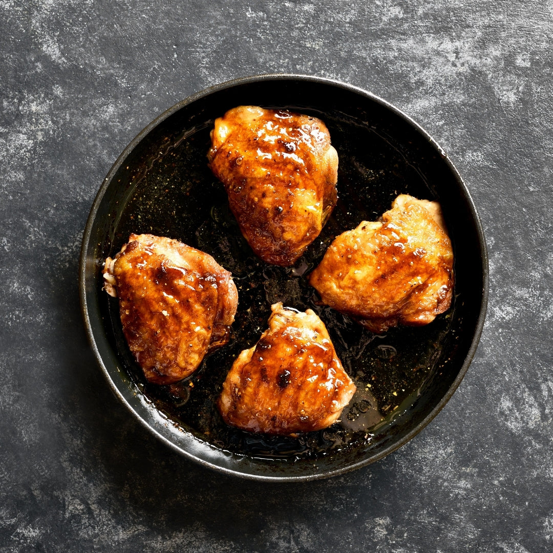 Astor Apiaries Honey and Soy Glazed Chicken Thighs