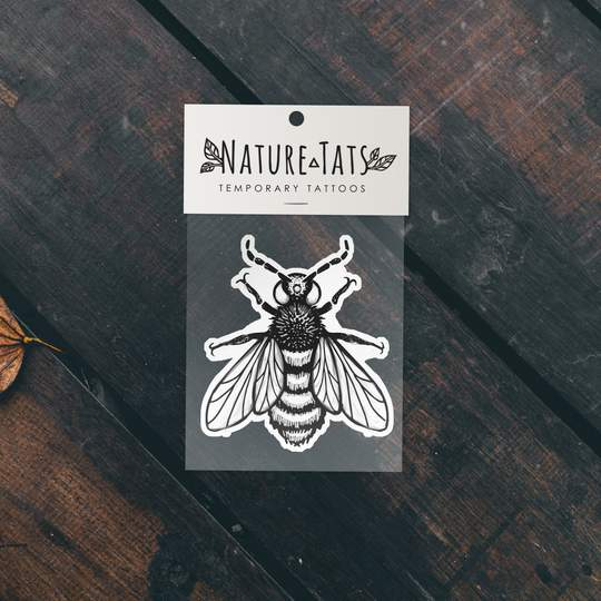 Big Bee Temporary Tattoo - Astor Apiaries