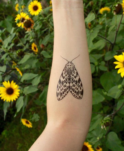 Leopard Moth Temporary Tattoo - Astor Apiaries