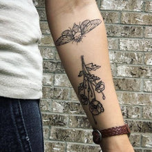 Load image into Gallery viewer, Poppy Cluster Floral Temporary Tattoo - Astor Apiaries
