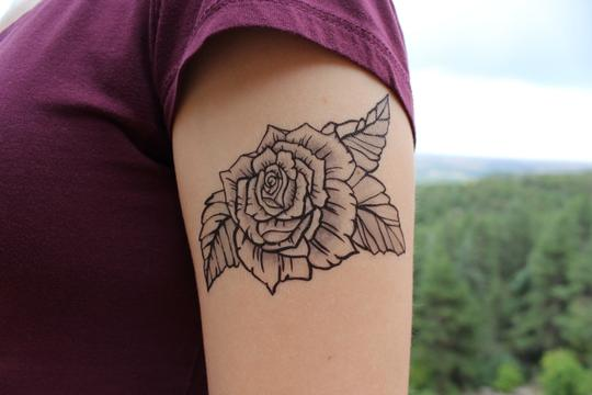 Rose Bloom Temporary Tattoo - Astor Apiaries