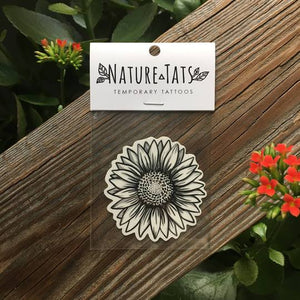 Sunflower Temporary Tattoo - Astor Apiaries