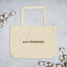 Load image into Gallery viewer, eco-Feminism Large Organic Tote Bag