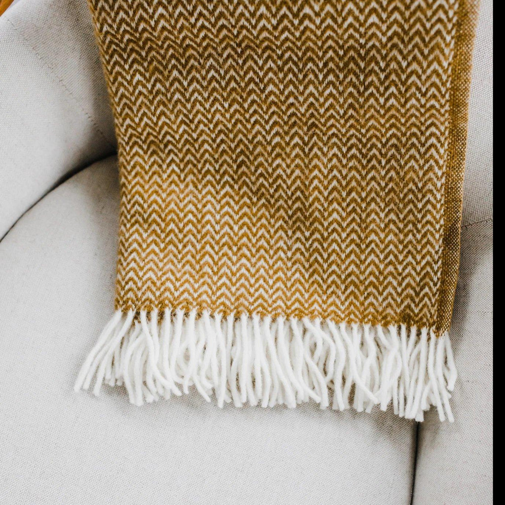 "Klippan - ""Chevron""  Wool Blanket"