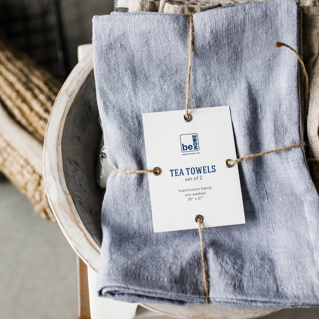 Chambray Linen Tea Towels (set of 2)