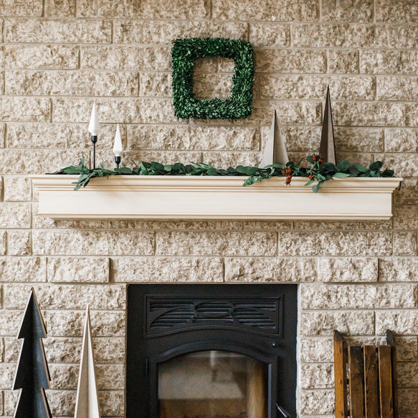 Eucalyptus Garland on a holiday mantle