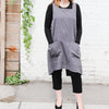 front of dark grey cuisine apron by linen way