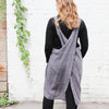 back of dark grey cuisine apron by linen way