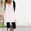 front of light pink cuisine apron by linen way