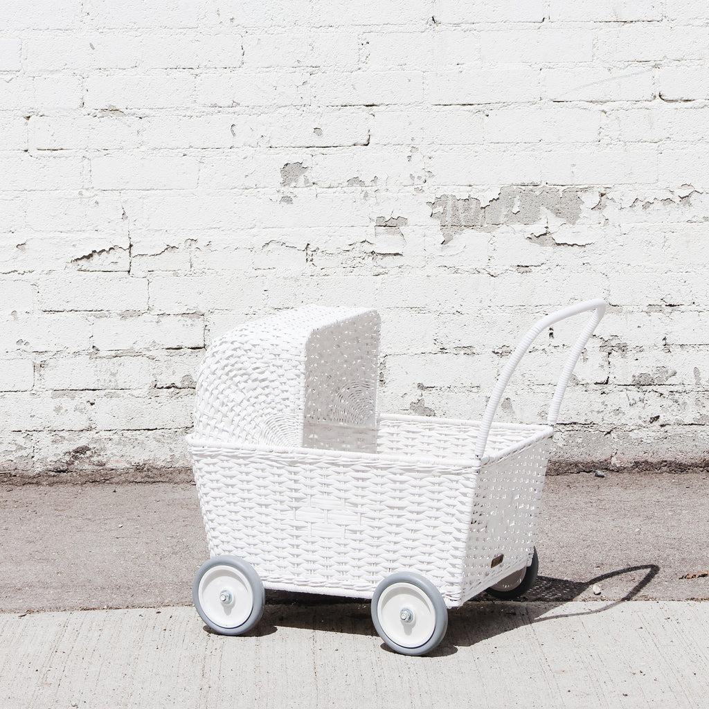 Olli Ella - Stroller - White with mattress