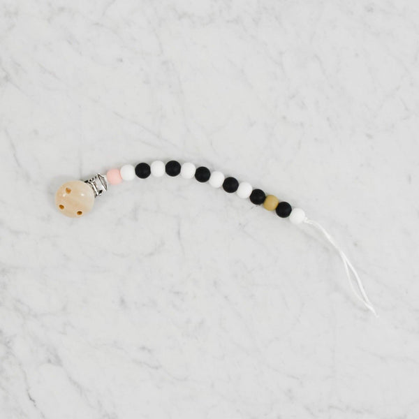 Prairie Baby Pacifier Clip and Teething Ring Set