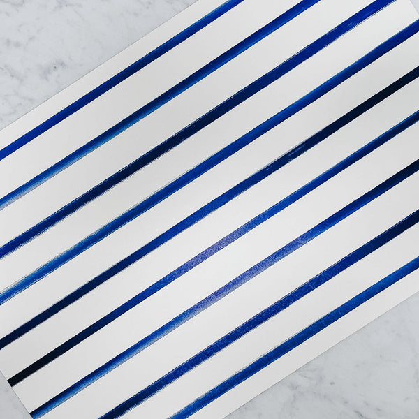 Hester & Cook - Navy and white Stripe Placemat