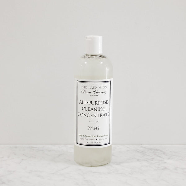bottle of all purpose cleaning concentrate with perfume scent by the laundress new york