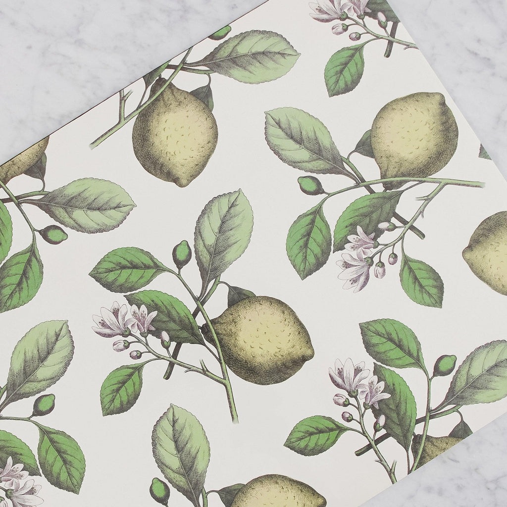 Hester & Cook - Paper Placemats with Lemons and lemon tree branches