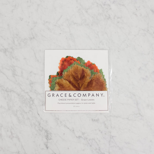 Grace and Company LTD. Cheese Papers - Grape Leaves