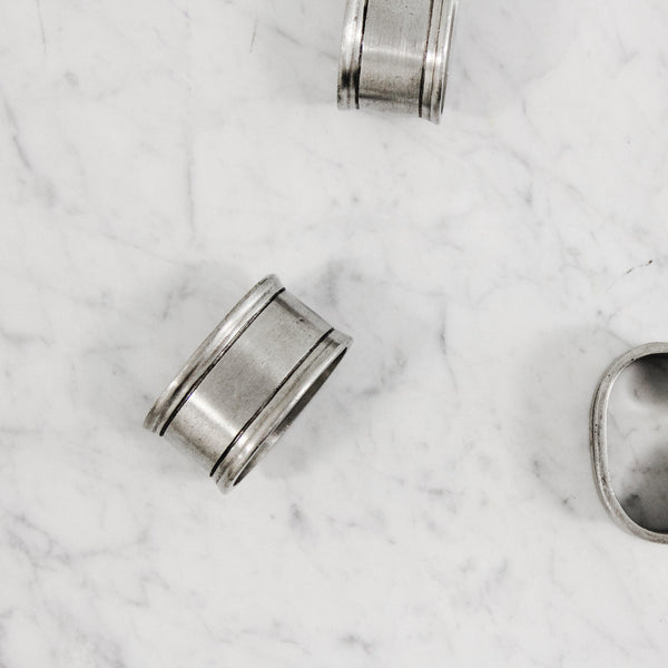 Match 1995 pewter Napkin Rings