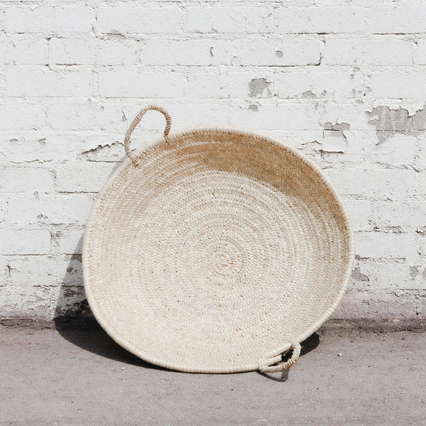 Moroccan Round Woven Basket
