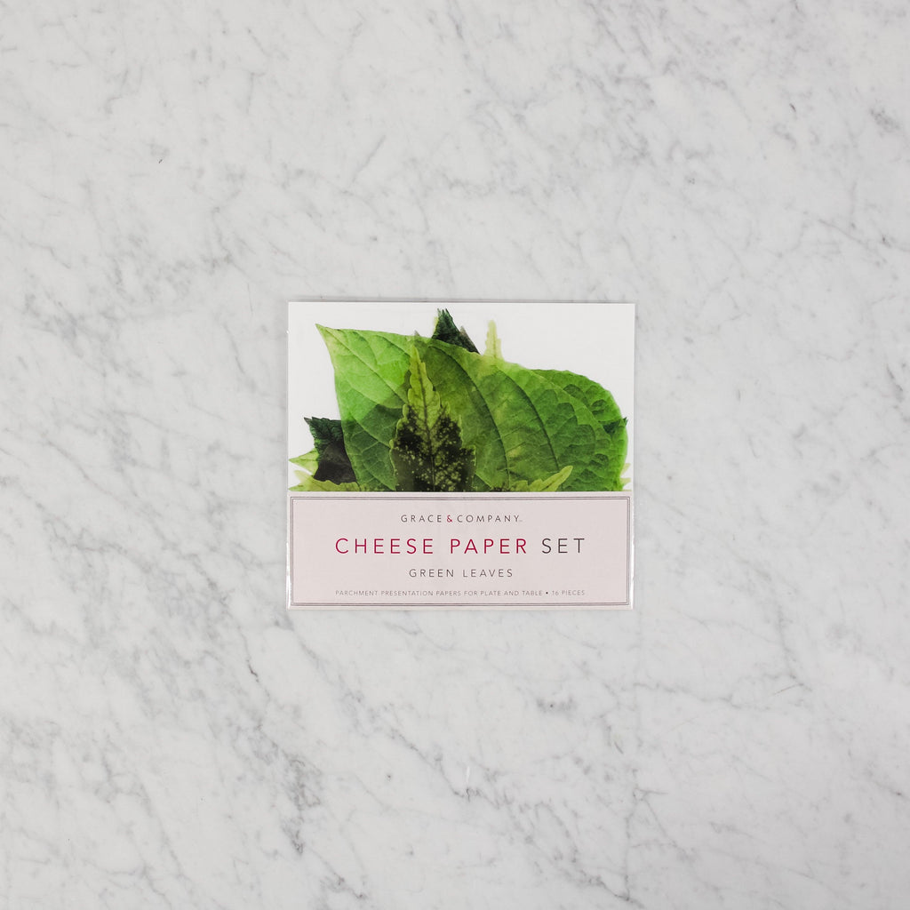Grace and Company LTD. Cheese Papers - Green Leaves