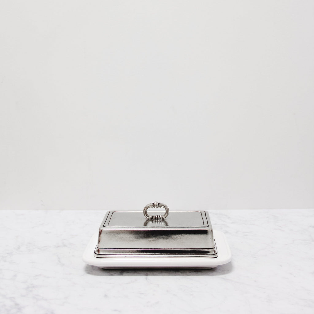 Match 1995 pewter Butter Dish