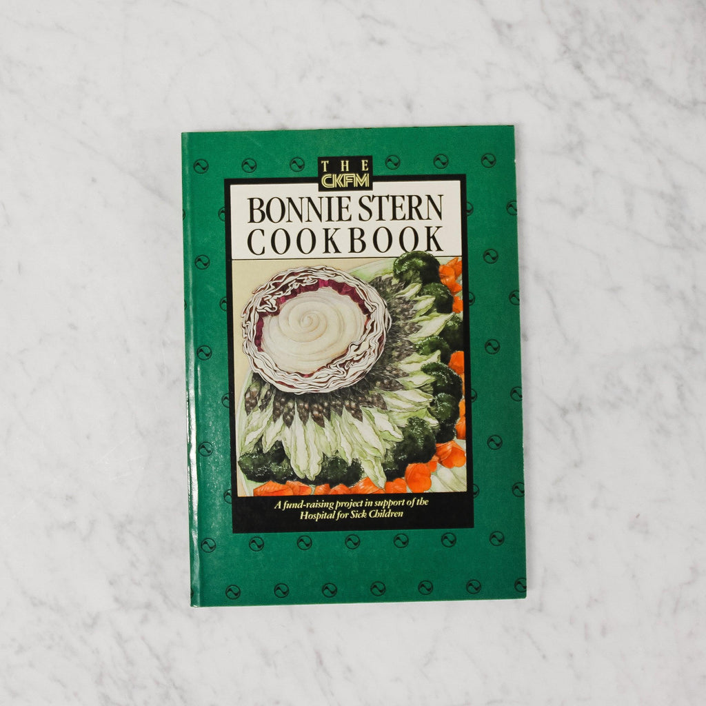 green bonnie stern cookbook with cabbage on the cover and green border
