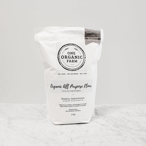 bag of one organic farm organic all purpose flour