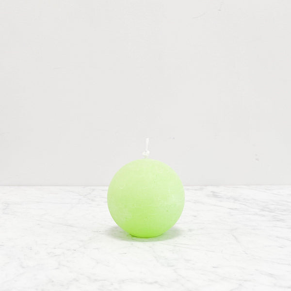 Sphere Round Candle - Lime