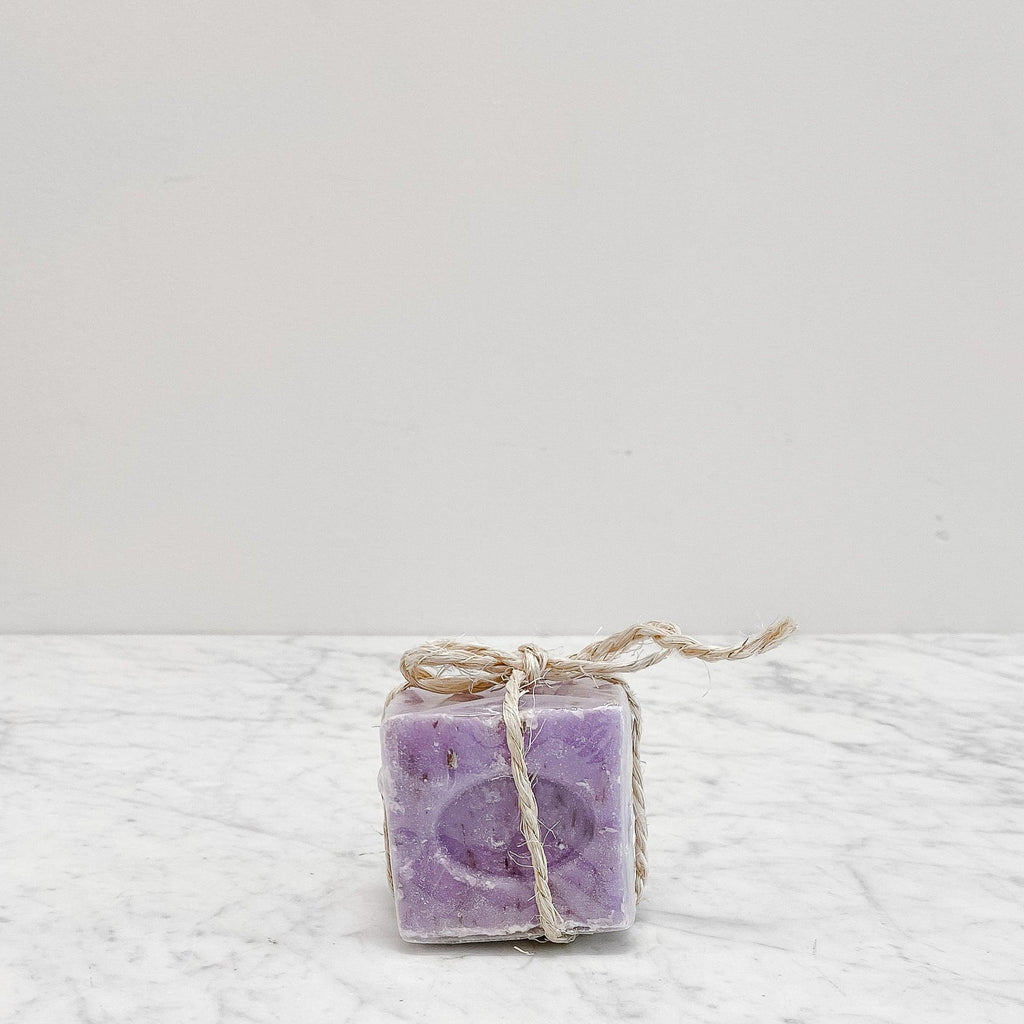 French Soap Square scented in lavender sage