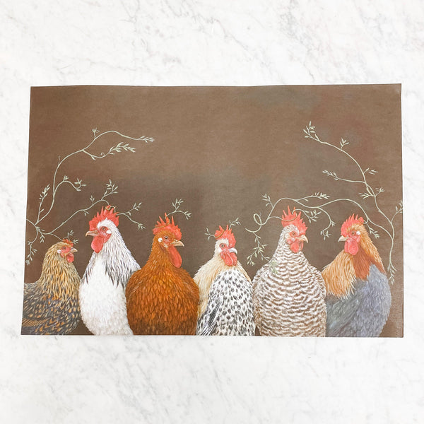 Hester & Cook - Paper Placemats - Party at the Roost
