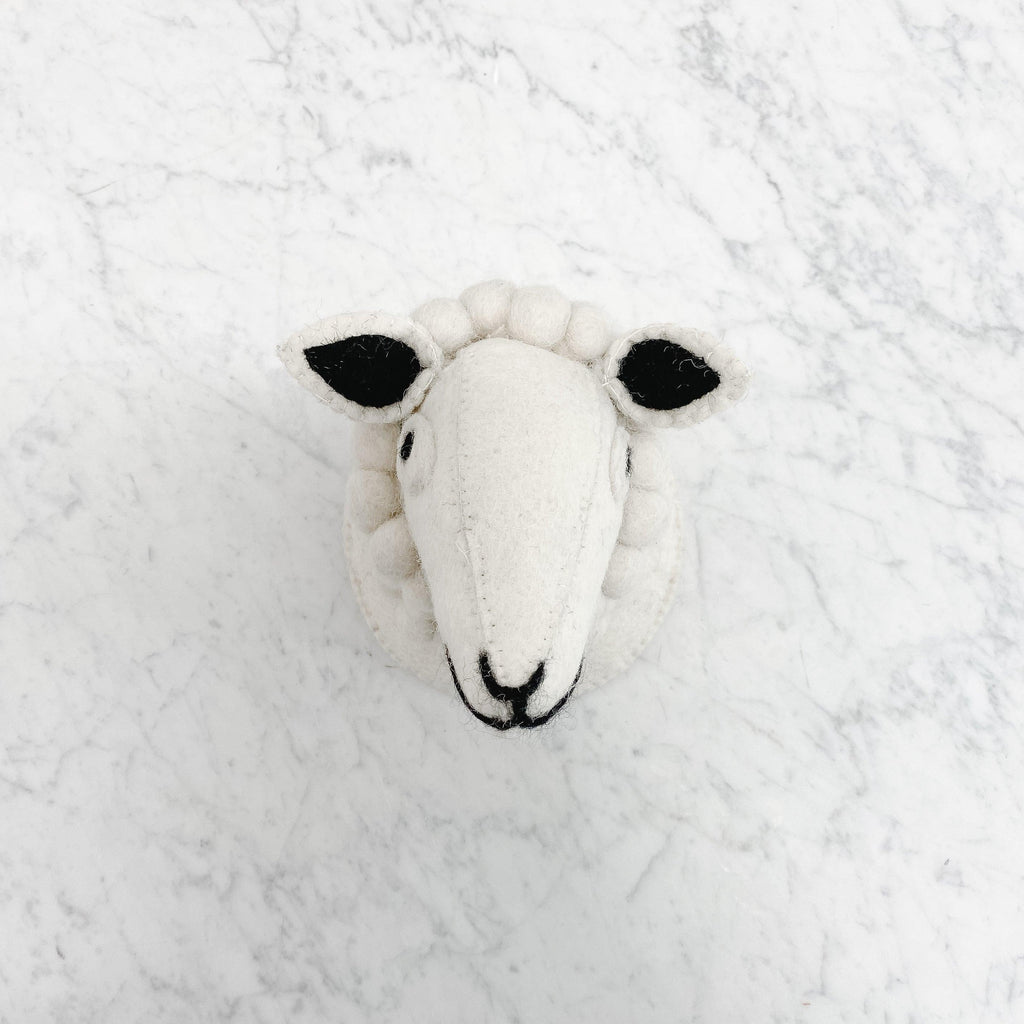 Creative Coop - Sheep Head Wall Decor