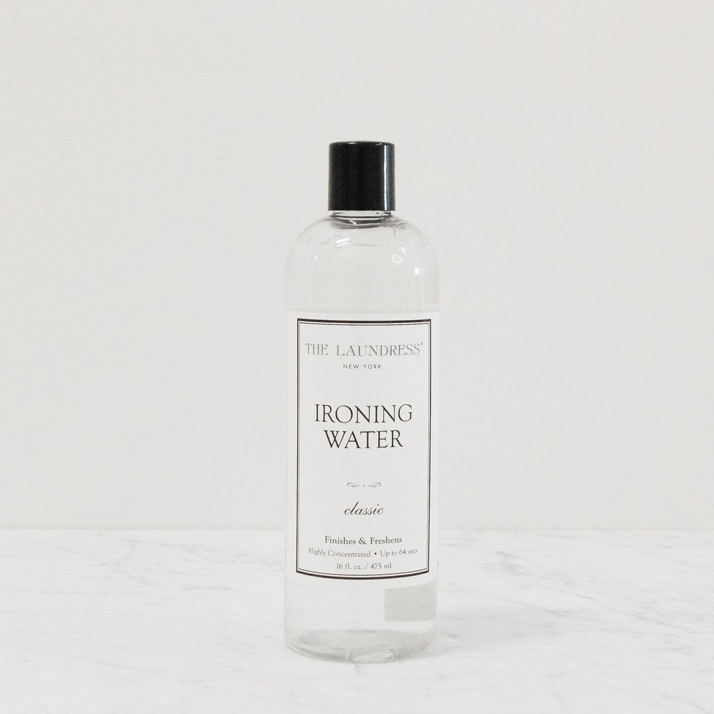 bottle of laundress scented ironing water fabric refresher