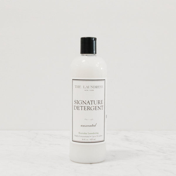 bottle of the laundress signature laundry detergent in unscented