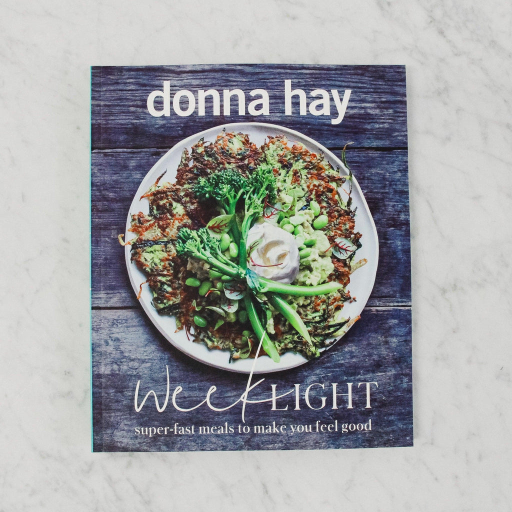 front cover of donna hay's week light super fast meals to make you feel good