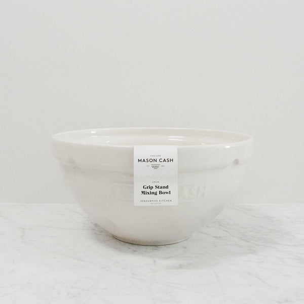 white mason cash tilt mixing bowl with packaging