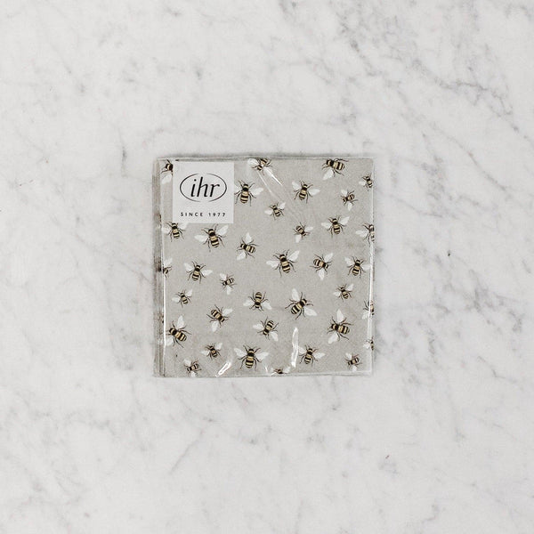 bee motif cocktail napkin by ihr