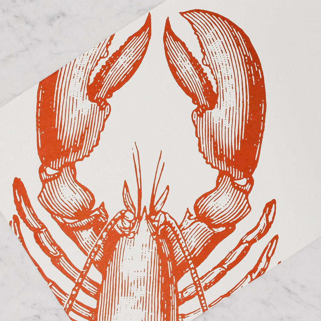 Hester & Cook - Paper Placemats with red Lobster