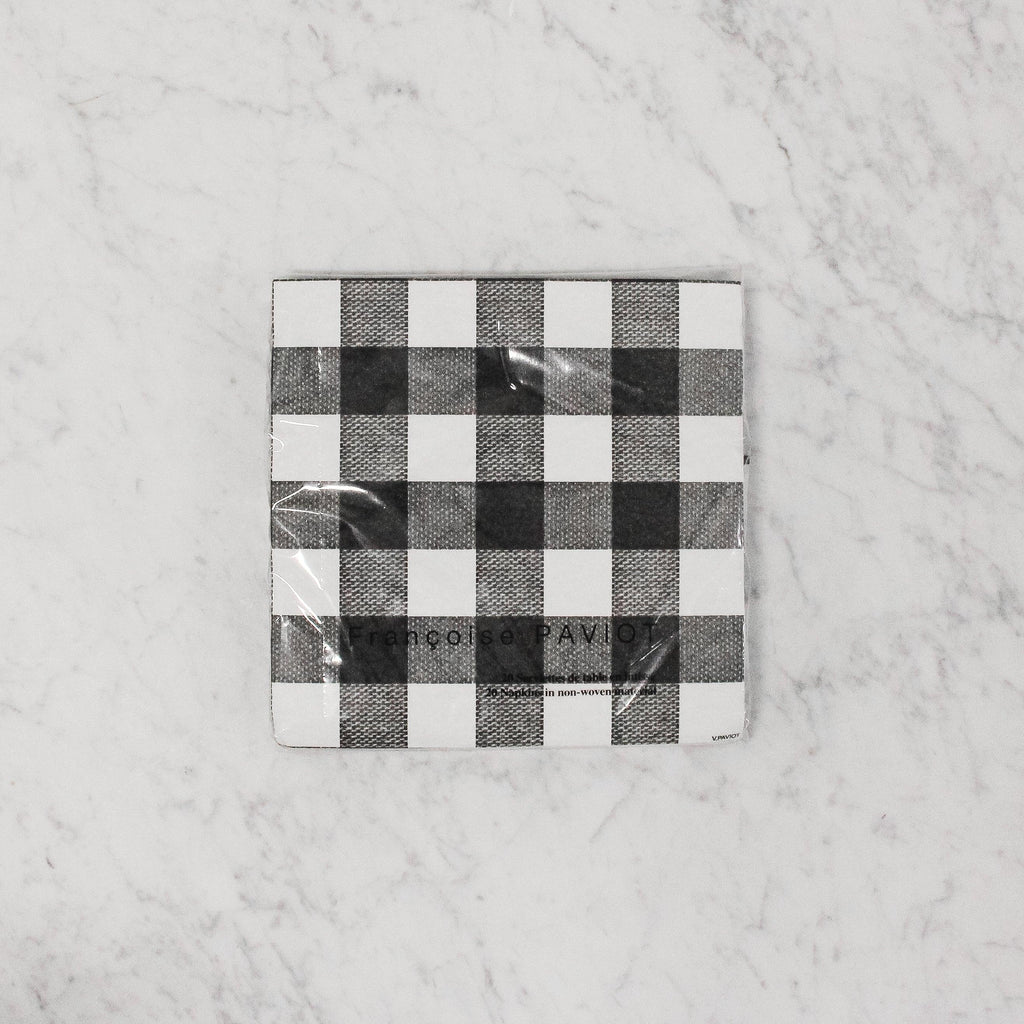 Paviot Grand Vichy Noir Dinner Napkin