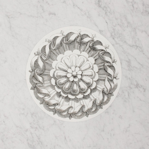 Hester & Cook - Serving Papers in black and white Rosette pattern