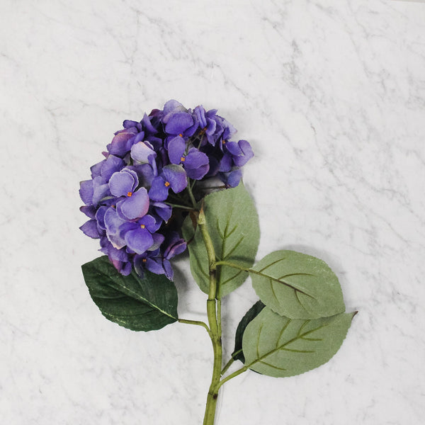 Silk Flower - Blue Hydrangea Stem