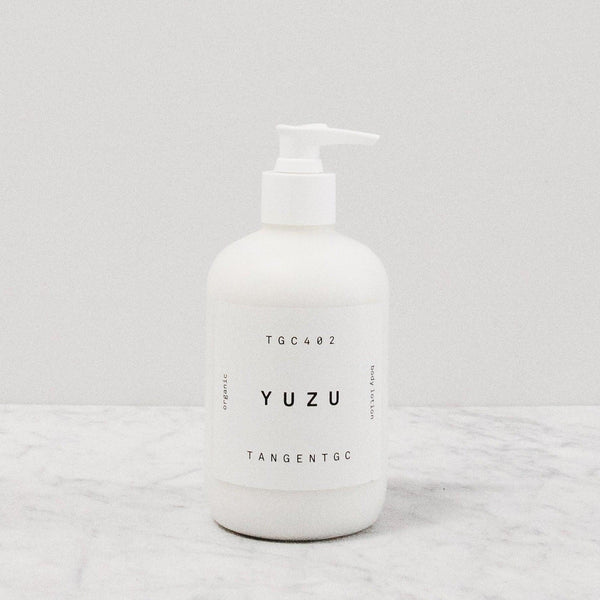 Tangent GC Yuzu Citrus body lotion pump bottle