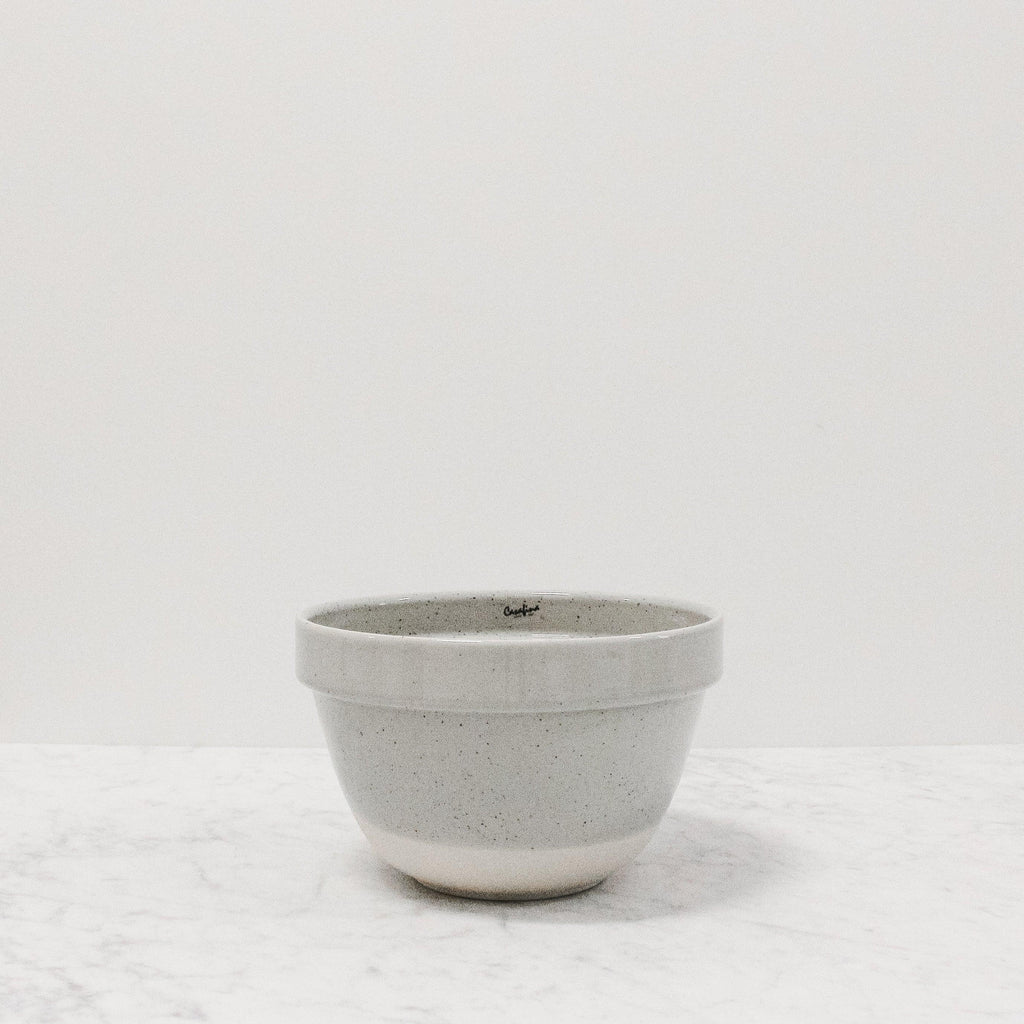 front view of fattoria grey mixing bowl in the small size