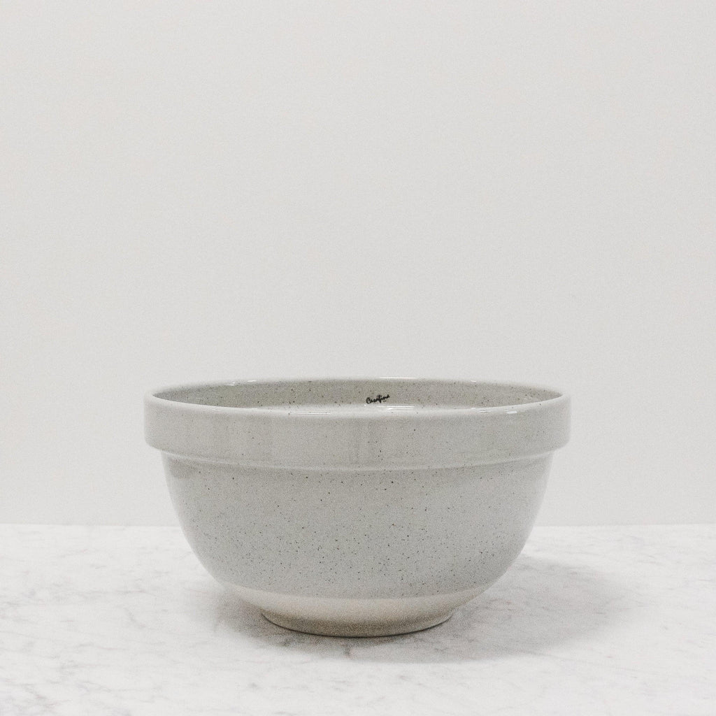 front view of fattoria grey mixing bowl in the medium size