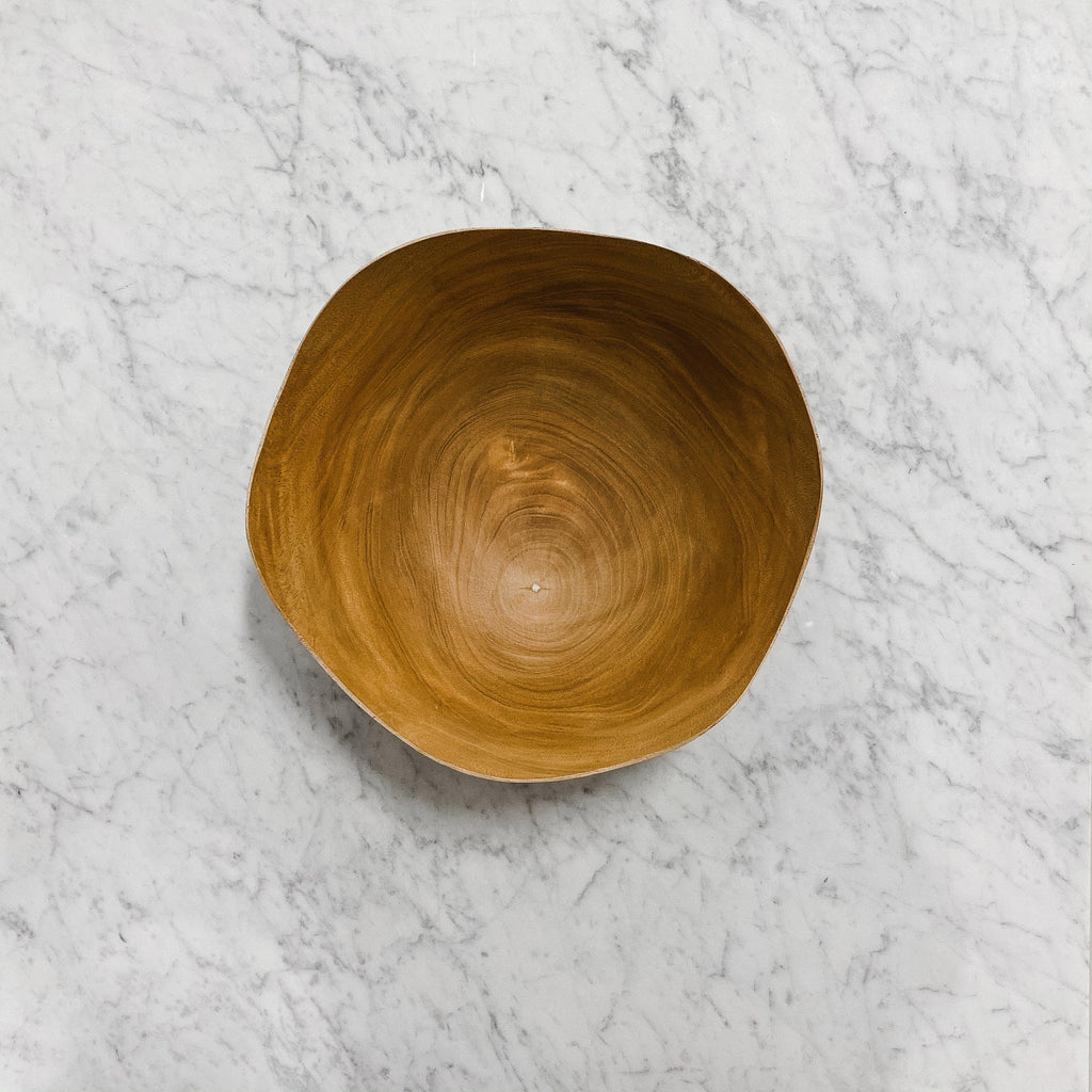 be home Mango Wood Wave Edge Bowl