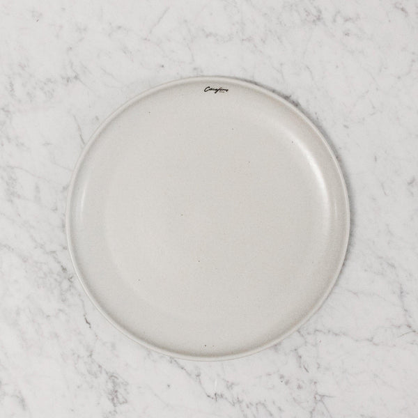 top view of vanilla bean Casafina pacifica dinner plate