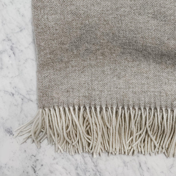 Linen Way greige Soho Throw