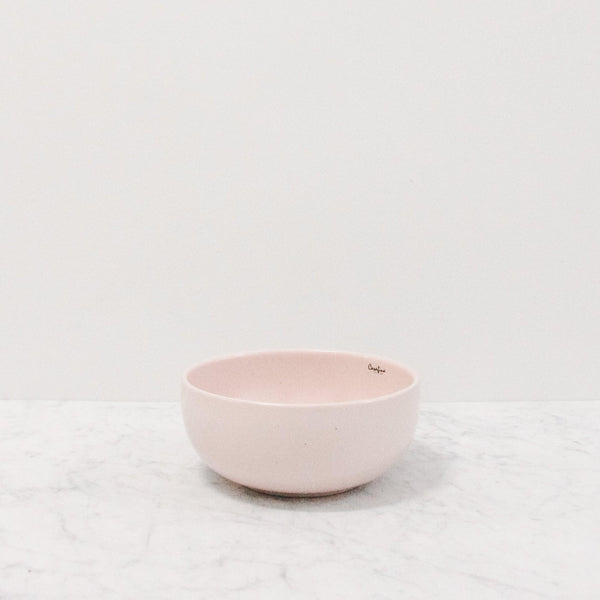 casafina pacifica cereal bowl in pink marshmallow