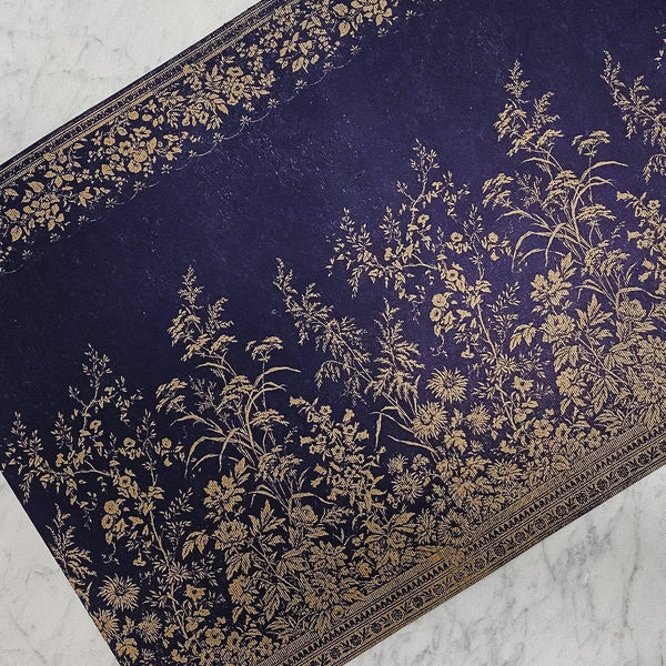 Hester & Cook Navy Woven Floral Placemats